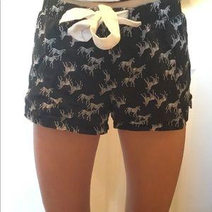 zebra pajama shorts